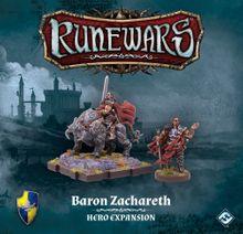 Runewars Miniatures Game: Baron Zachareth – Hero Expansion