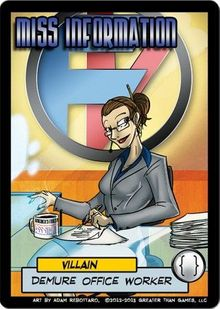 Sentinels of the Multiverse: Miss Information Villain Character
