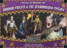 Massive Darkness: Heroes & Monster Set – Warrior Priests vs The Spearmaiden Cyclops